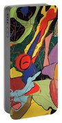 Spontaneous Flow Contemporary Art No.3 Portable Battery Charger