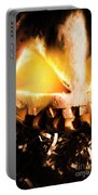 Spooky Jack-o-lantern In Darkness Portable Battery Charger