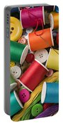 Spools Of Thread With Buttons Portable Battery Charger