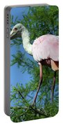 Spoonbill In A Tree Portable Battery Charger