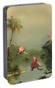 Spoonbills In The Mist Portable Battery Charger