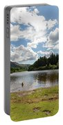 Spot The Swimming Dog In Derwnt Water Lake Portable Battery Charger