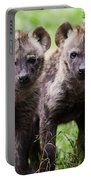 Spotted Hyena Cubs I Portable Battery Charger