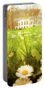 Spring. A Medow Spread With Daisies In Baden-baden, Germany Portable Battery Charger