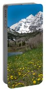 Spring At The Maroon Bells Portable Battery Charger by Cascade Colors