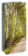 Spring Birches Woods Footpath Portable Battery Charger