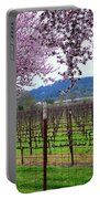 Spring Blossoms Near Calistoga Portable Battery Charger by Charlene Mitchell