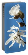 Spring Blue Sky Floral Art Print White Magnolia Tree Baslee Troutman Portable Battery Charger