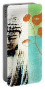 Spring Buddha Portable Battery Charger by Linda Woods