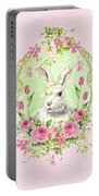 Spring Bunny Portable Battery Charger by Wendy Paula Patterson