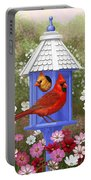 Spring Cardinals Portable Battery Charger
