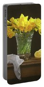 Spring Daffodil Flowers Portable Battery Charger