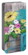 Spring Floral Portable Battery Charger
