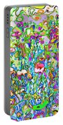 Spring Flower Bed Portable Battery Charger