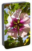 Spring Flower Peeking Out Portable Battery Charger