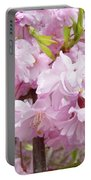 Spring Flowering Trees Art Prints Pink Flower Blossoms Baslee Portable Battery Charger