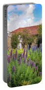 Spring Flowers In The Carmel Mission Garden Portable Battery Charger