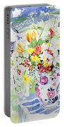 Spring Flowers On The Island Portable Battery Charger