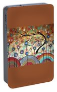 Spring Flowers Original Painting Madart Portable Battery Charger