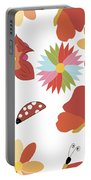 Spring Flowers Pattern Portable Battery Charger