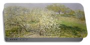 Spring. Fruit Trees In Bloom Portable Battery Charger