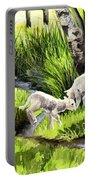Spring Grasses Portable Battery Charger