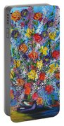 Spring Has Sprung- Abstract Floral Art- Still Life Portable Battery Charger
