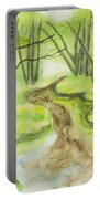 Spring Landscape, Watercolours Portable Battery Charger