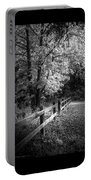 Spring Leaves B/w Portable Battery Charger