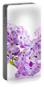 Spring Lilac Flowers Blooming Isolated On White Portable Battery Charger