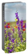 Spring Meadow With Flowers Nature Scene Portable Battery Charger