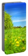 Spring Meadow With Green Grass Portable Battery Charger