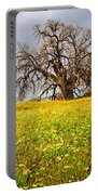 Spring Oak Tree And Wildflowers Portable Battery Charger