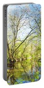 Spring On A Pennsylvania Stream, Fairmount Park, Philadelphia Portable Battery Charger