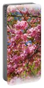 Spring Pink Blossoms Portable Battery Charger