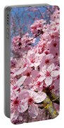 Spring Pink Tree Blossoms Art Print Baslee Troutman Portable Battery Charger