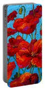Spring Poppies Portable Battery Charger