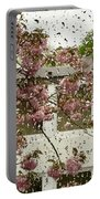 Spring Rain Outside The Window And Sakura Portable Battery Charger
