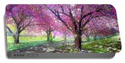 Spring Rhapsody, Happiness And Cherry Blossom Trees Portable Battery Charger