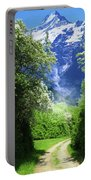 Spring Road To Mountains Portable Battery Charger