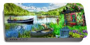 Spring Serenity At Lakeside Portable Battery Charger