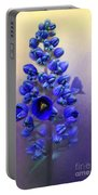 Spring Sunshine On Blue Portable Battery Charger
