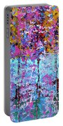 Spring Time In The Woods Abstract Oil Painting Portable Battery Charger
