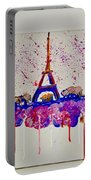Spring Time. Paris. Eiffel Tower.  Portable Battery Charger