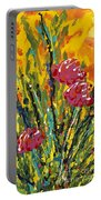 Spring Tulips Triptych Panel 2 Portable Battery Charger