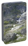 Spring Waterfall In The Tetons Portable Battery Charger