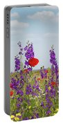 Spring Wild Flowers Meadow Portable Battery Charger