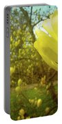 Spring. Yellow Magnolia Flower Portable Battery Charger