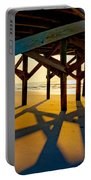 Springmaid Pier At Sunrise Portable Battery Charger