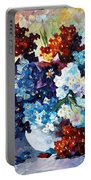 Springs Smile - Palette Knife Oil Painting On Canvas By Leonid Afremov Portable Battery Charger